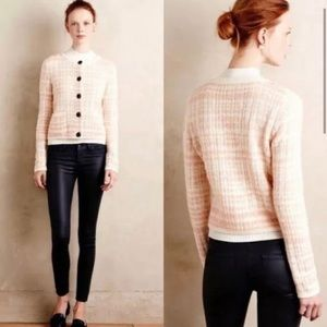 Anthropologie Knitted & Knotted Plaid Cardigan